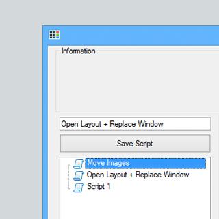 Simple scripting editor
